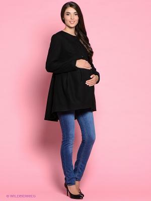 Пальто Trendy Tummy. Цвет: черный