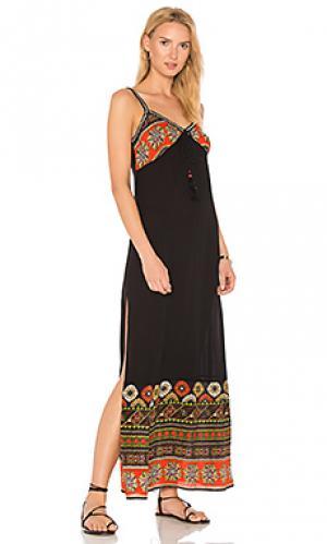 Макси платье cabo Band of Gypsies. Цвет: черный