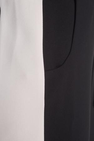 Хлопковые брюки VIKTORIA IRBAIEVA. Цвет: черный, пудровый