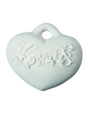 Ароматические украшения Сердце Любовь Т1, аромат Янтарное Mathilde M. Цвет: белый