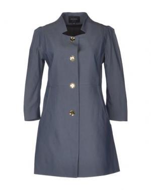 Легкое пальто GIULIANO FUJIWARA. Цвет: темно-синий