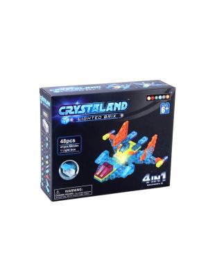 Светящийся конструктор Crystaland Самолет 4в1 48деталей Neocube. Цвет: фиолетовый