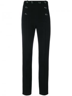 Классические брюки с декоративными пуговицами Alberta Ferretti. Цвет: чёрный