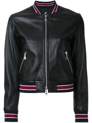Укороченная куртка Loveless. Цвет: чёрный