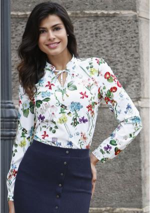 Блузка MY STYLE. Цвет: с рисунком
