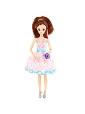 Кукла шарнирная Марина, 28 см. Lisa Jane. Цвет: темно-фиолетовый, бледно-розовый
