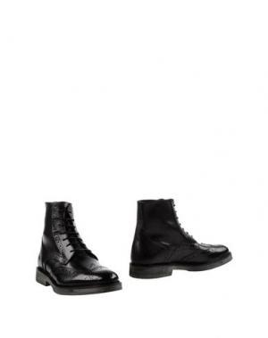 Полусапоги и высокие ботинки BORGO MEDICEO. Цвет: черный
