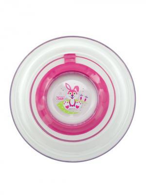 Тарелка Русские мотивы от 6 мес. с присоской LUBBY. Цвет: малиновый