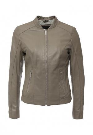 Куртка кожаная Oakwood. Цвет: хаки