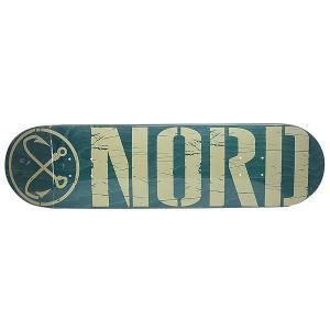 Дека для скейтборда  Logo Green/Beige 32 x 8.25 (21 см) Nord. Цвет: зеленый,бежевый