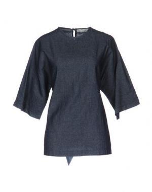Блузка TROU AUX BICHES. Цвет: синий