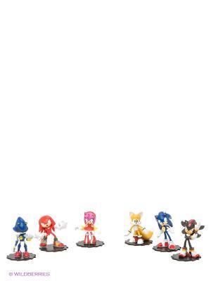 Набор фигурок 6в1 Sonic Modern Pack. Соник. Цвет: оранжевый, желтый