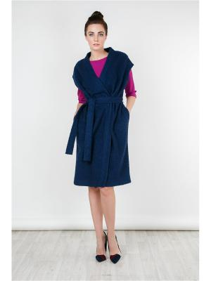 Пальто-жилет MAYAMODA. Цвет: темно-синий, синий