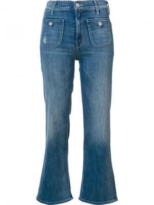 Укороченные джинсы Maverick Mother. Цвет: синий