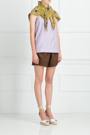 Хлопковые шорты Donna Karan. Цвет: коричневый