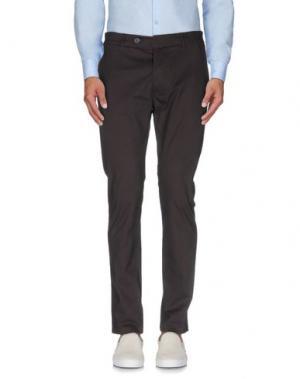 Повседневные брюки 26.7 TWENTYSIXSEVEN. Цвет: темно-коричневый