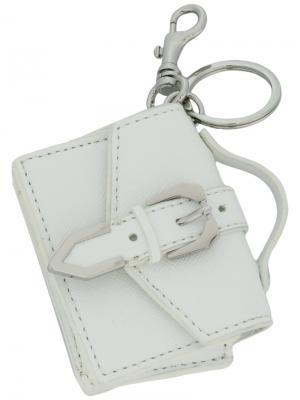 Брелок в виде сумки Versus. Цвет: белый