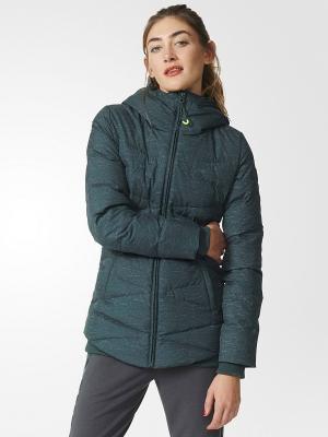 Куртка Adidas. Цвет: темно-зеленый