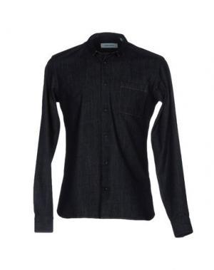 Джинсовая рубашка MAURO GRIFONI. Цвет: синий