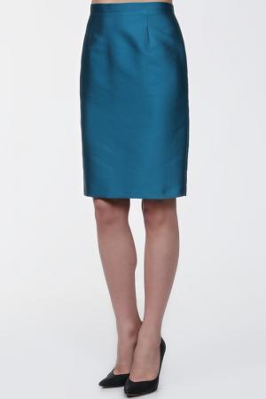Юбка MARIA COCA. Цвет: темно-голубой