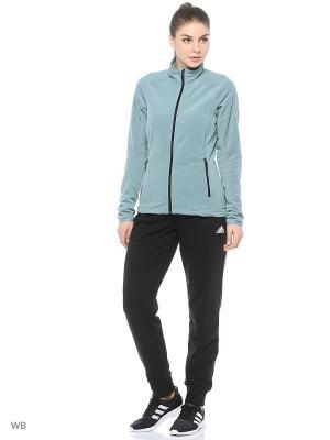 Толстовка Reachout Adidas. Цвет: серо-зеленый