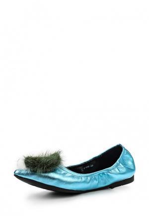 Балетки Grand Style. Цвет: голубой