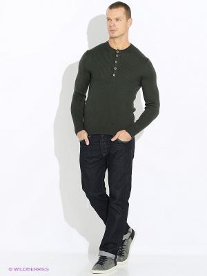 Джемпер JB casual. Цвет: зеленый
