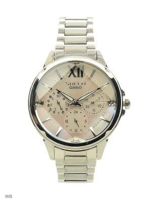Часы Sheen SHE-3056D-4A CASIO. Цвет: розовый