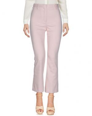 Повседневные брюки WOOD. Цвет: розовый