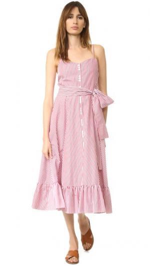 Платье Giovanna Million Bottom Elle Sasson. Цвет: красный/белые полоски