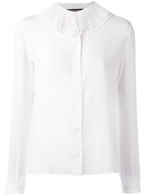 Рубашка с плиссированным воротником Vanessa Seward. Цвет: белый