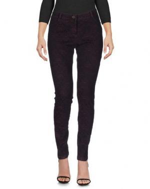 Джинсовые брюки SOUVENIR. Цвет: красно-коричневый