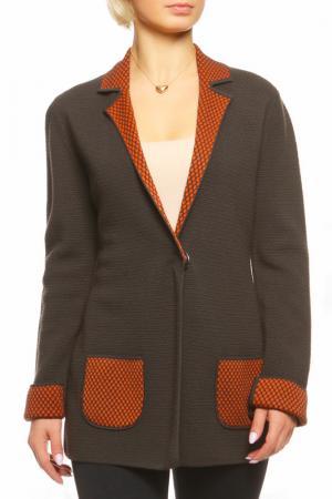 Пиджак Shes so. Цвет: черный, оранжевый