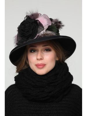 Шляпа Lak Miss. Цвет: черный, розовый
