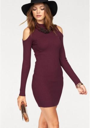 Платье MELROSE. Цвет: вишневый, черный