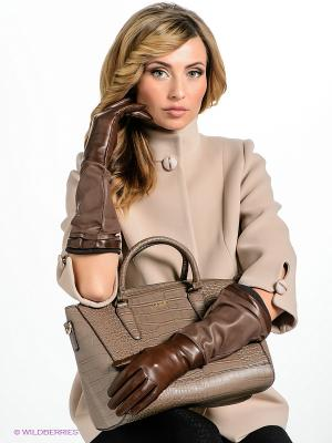 Перчатки Eleganzza IS02055/d.brown/taupe