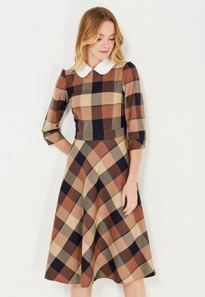 Платье Emka. Цвет: коричневый