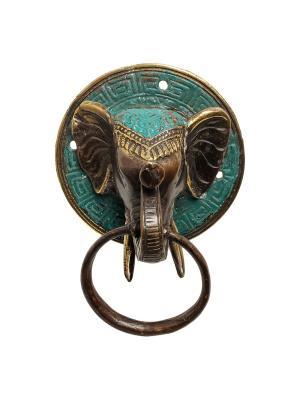 Фигурка с кольцом Слон Decor & gift. Цвет: золотистый, зеленый
