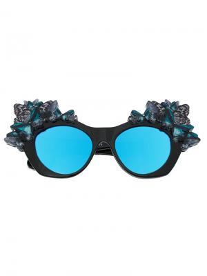 Солнцезащитные очки  butterfly Anna Karin Karlsson. Цвет: чёрный