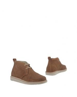 Полусапоги и высокие ботинки LABORATORIO BASE. Цвет: коричневый