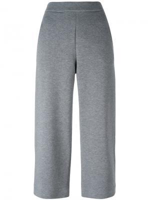 Укороченные брюки с эластичным поясом Akris Punto. Цвет: серый