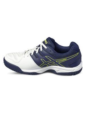 Спортивная обувь GEL-GAME 5 GS ASICS. Цвет: белый, желтый, синий