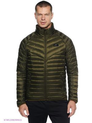 Куртка NIKE GUILD 550 JACKET. Цвет: оливковый