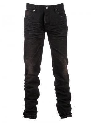 Потертые узкие джинсы Snake & Dagger. Цвет: чёрный
