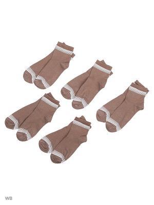 Носки 5 пар Тульский трикотаж. Цвет: коричневый