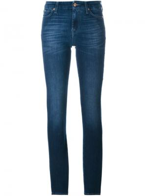 Джинсы  Skinny 7 For All Mankind. Цвет: синий