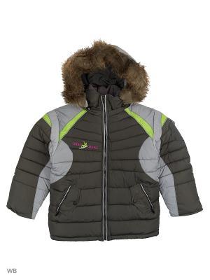 Куртка утепленная для мальчика Десант Пралеска. Цвет: серый