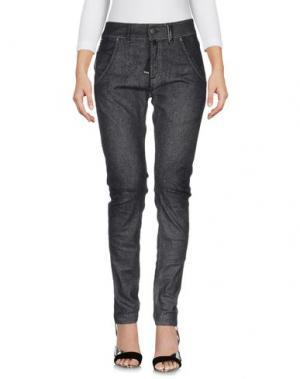 Джинсовые брюки HIGH. Цвет: стальной серый