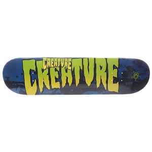 Дека для скейтборда  Sm Stained Blue 31.6 x 8.0 (20.3 см) Creature. Цвет: черный,синий,зеленый