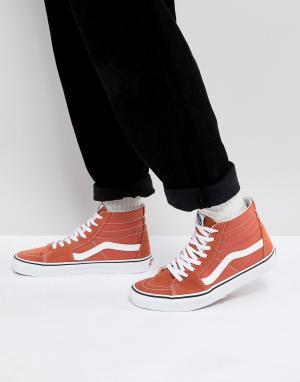 Vans Оранжевые кроссовки Sk8-Hi VA38GEQSP. Цвет: оранжевый
